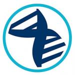 Hormone balancing icon (blue and dark blue)