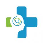 Stress management icon (blue and green)